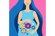 Happy pregnancy. Pretty pregnant
