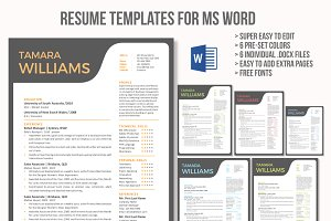 Unique creative Word resume template