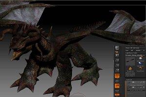 Dragon with 4 Head Horns