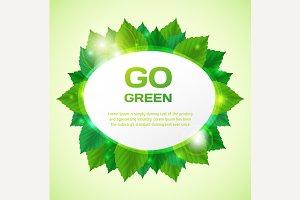 Abstract go green vector illustratio