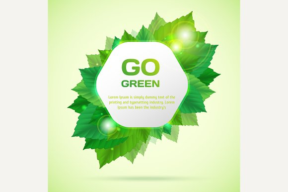 Abstract go green vector illustratio - Graphics