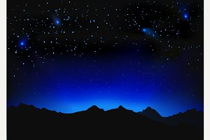 Beautiful night space landscape