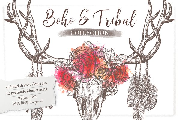 Boho And Tribal Graphic Collection