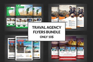 Travel Agency Marketing Flyer Bundle