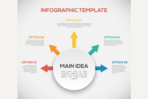 Infographics template with arrows