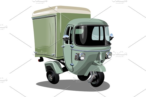 Vector cartoon delivery cargo