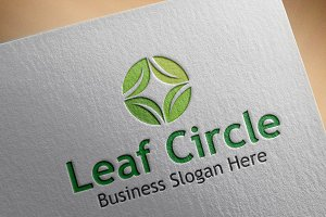 Leaf Circle Style Logo
