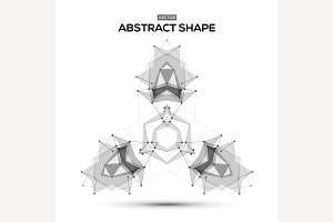 Abstract lowpoly geometric shape