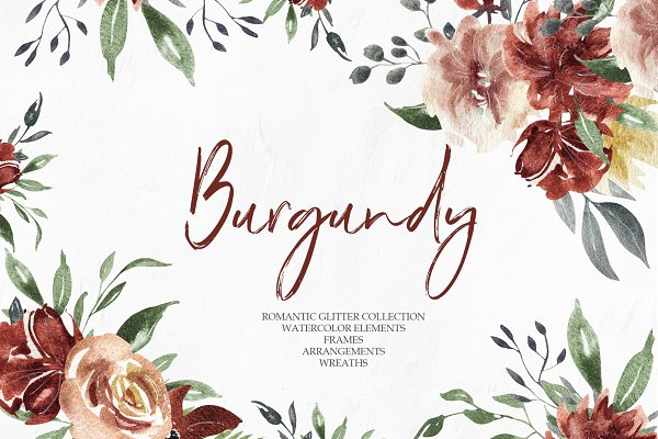Burgundy Elegant Graphic Collection