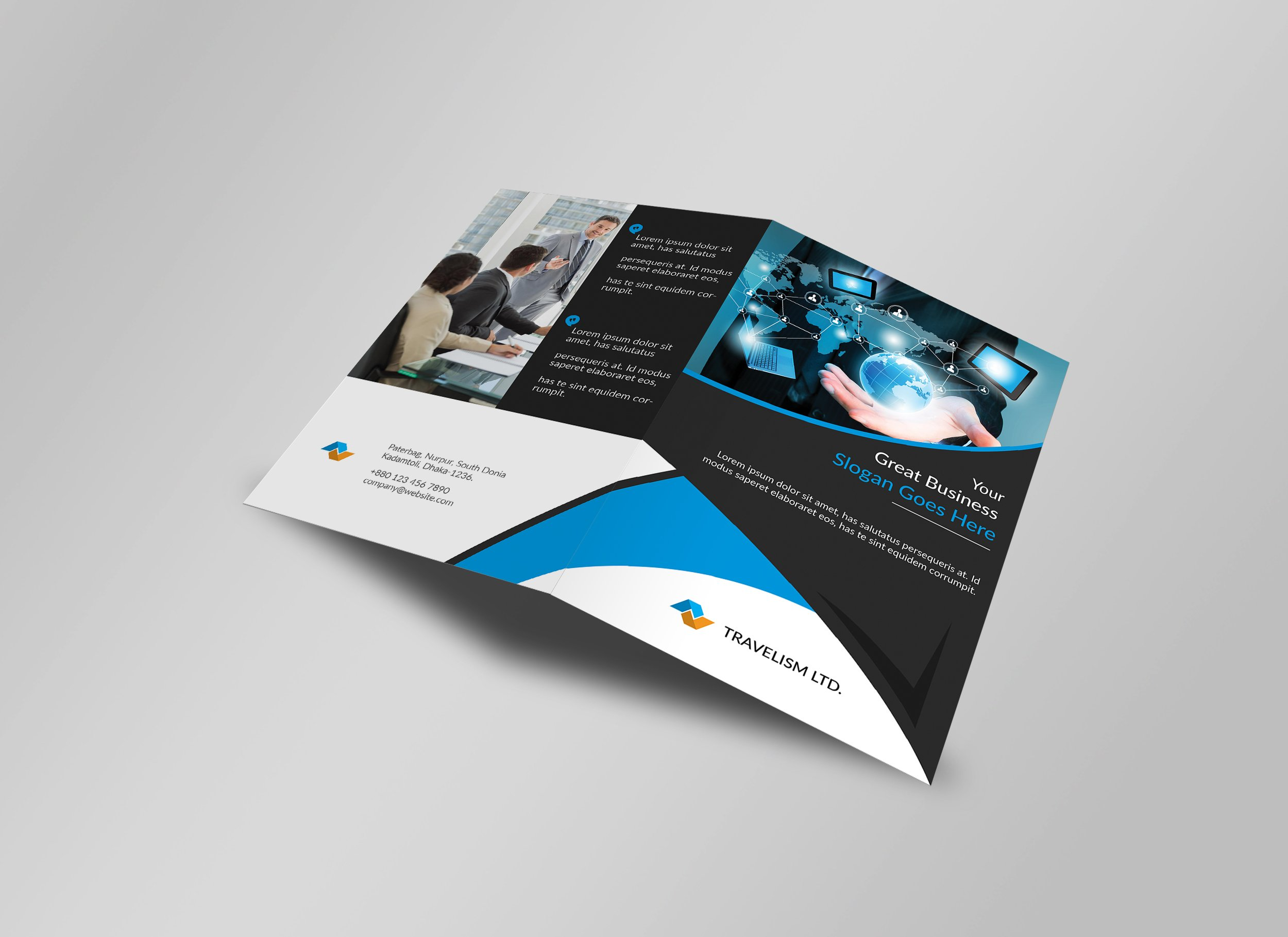 BiFold Business Brochure Template Brochure Templates Creative - Business brochures templates