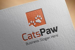 Cats Paw Style Logo
