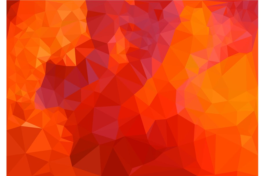 Low Poly Of Abstract Red Background