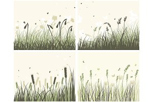 4 Meadow Backgrounds
