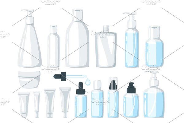 cosmetic care product in bottle