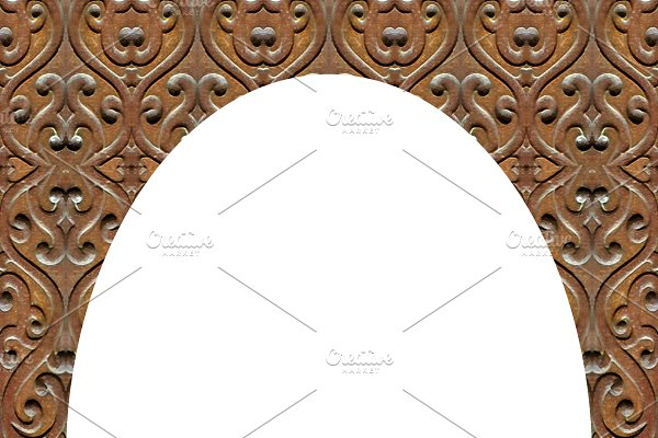 White Background With Carved Ornate