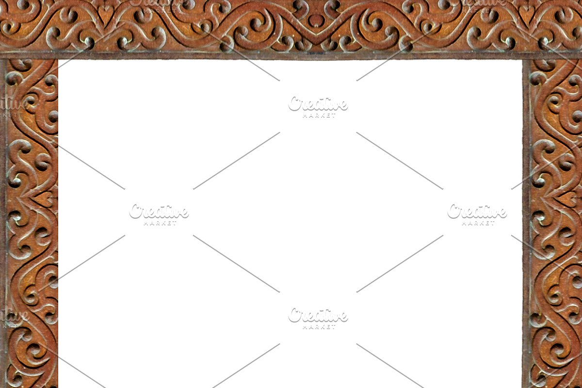 White Background With Carved Ornate in Illustrations - product preview 8