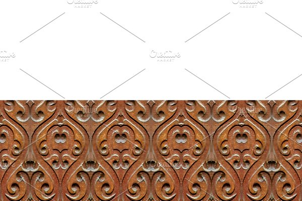 Stationery Background With Ornate Wo
