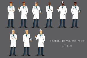 Doctors in various poses