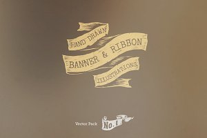 Banner and Ribbon Vectors