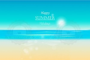 Summer beach panoramic background