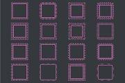 Elegant Lace Borders Frames laser