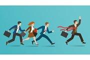 Business race concept