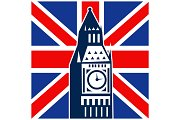 London Big Ben British Union Jack