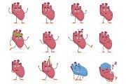 Human heart internal organ emotions