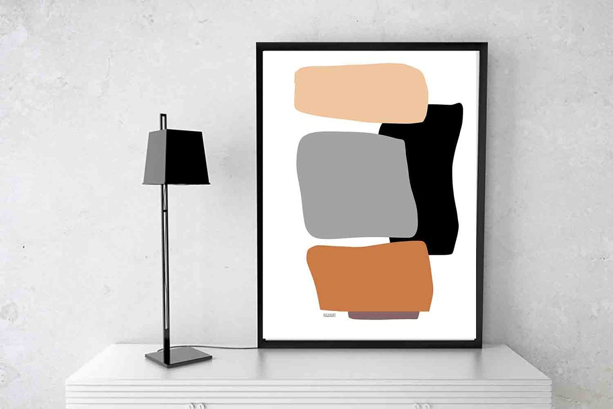 Neutral Colors Abstract Art Modern Custom Designed