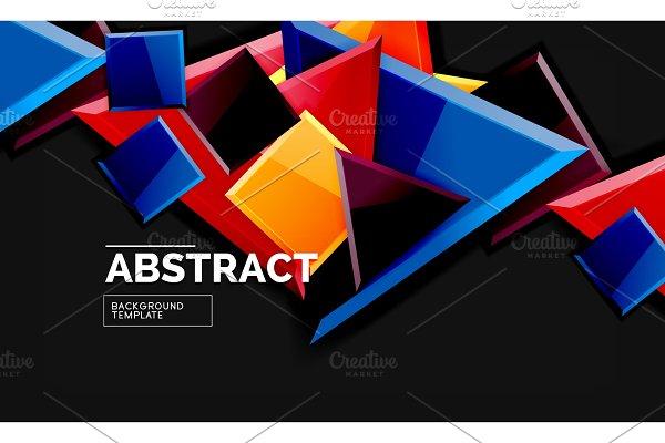Glossy mosaic style geometric shapes