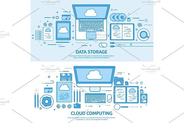 Cloud computing, media data server