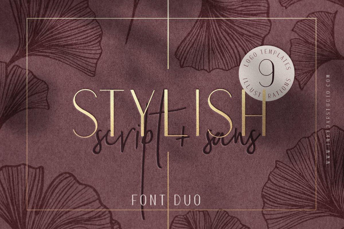 Stylish Font Duo + Logo Templates