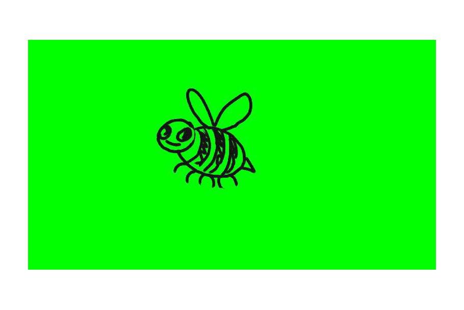 Animation Cartoon Bee Flying Flippin