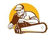 Arborist tradesman cutter with chain