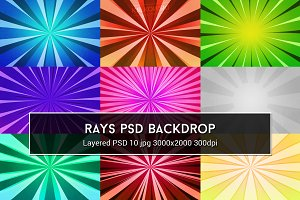 Rays PSD Backdrop