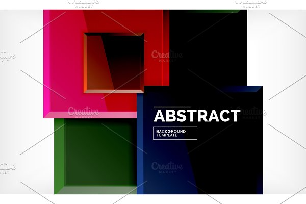 Square geometrical background