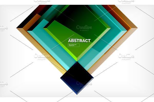 Square geometrical background