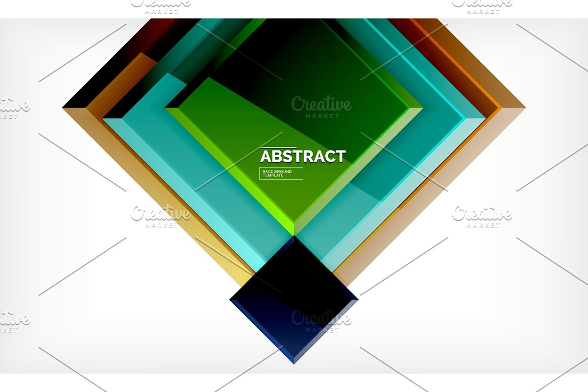 Square geometrical background in Illustrations - product preview 8