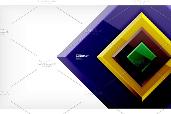 Square geometric background
