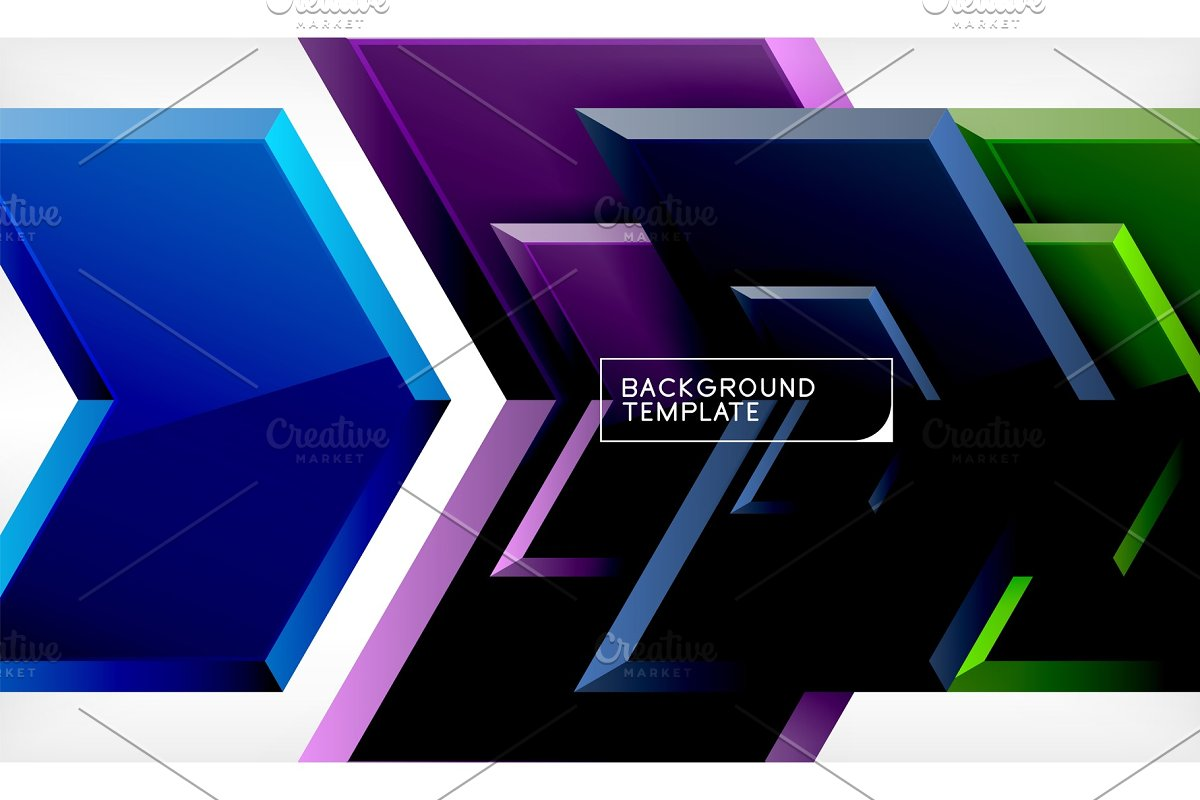Shiny glossy arrows background in Illustrations - product preview 8