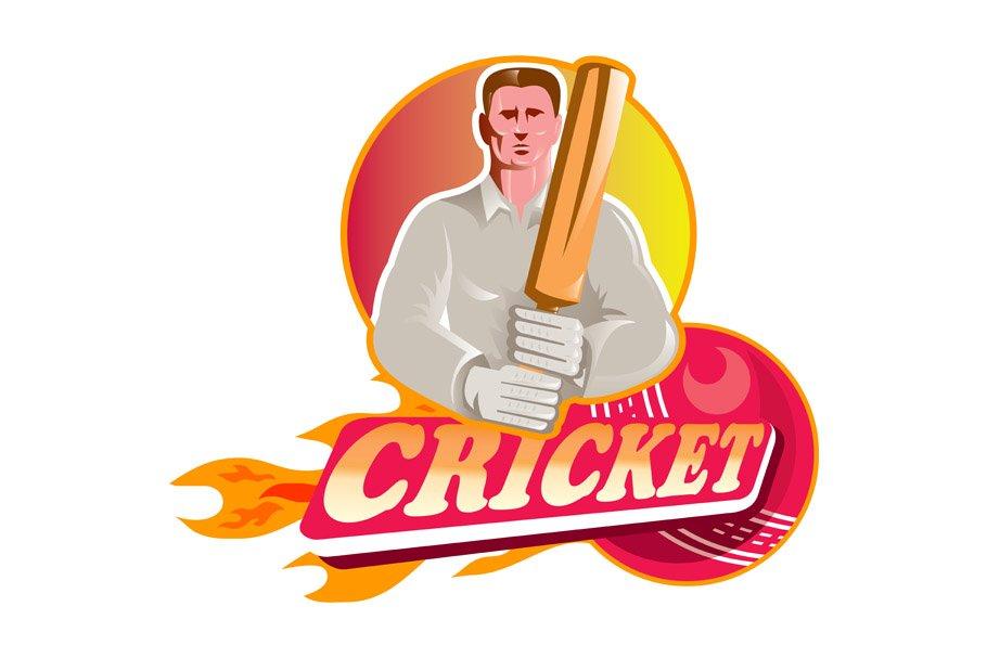 Cricket Player Batsman With Ball