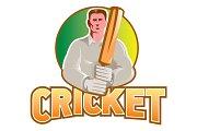 Cricket Player Batsman with Bat