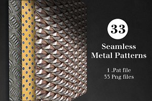 33 Seamless Metal Patterns