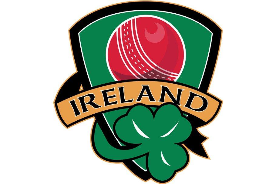 cricket ball shamrock Ireland shield