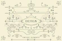 Vintage design, retro elements