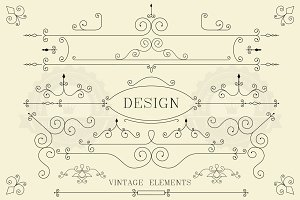 Vintage design, retro elements