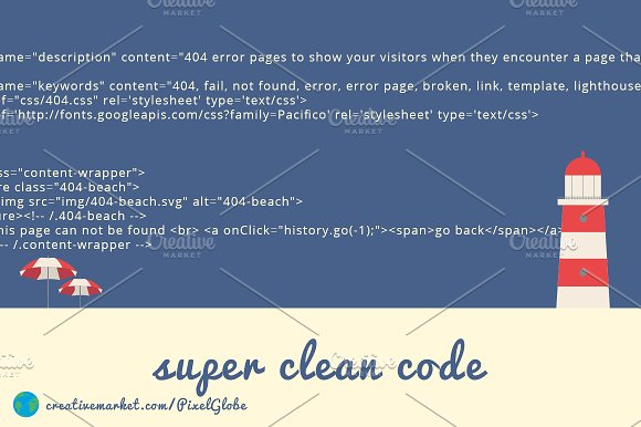 404 error - Beach - HTML template in HTML/CSS Themes - product preview 4