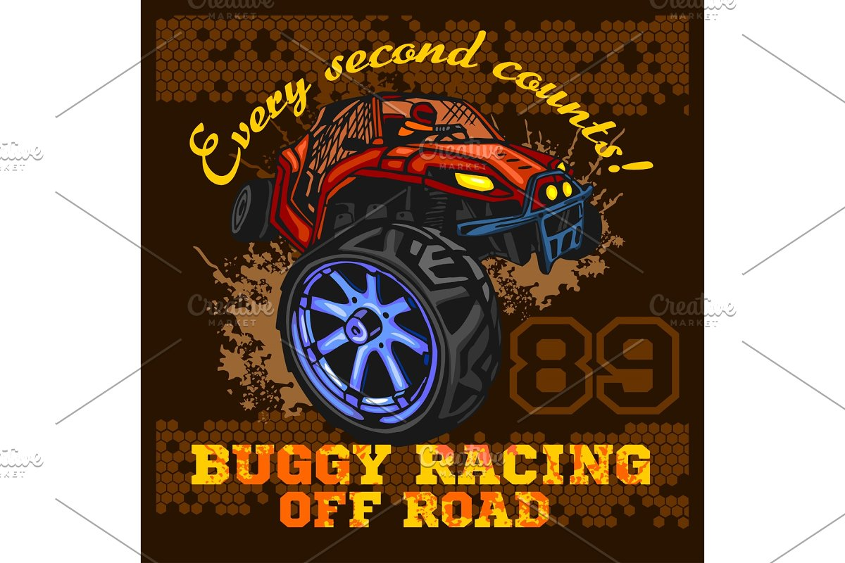 Dune buggy riders - off road badge in Illustrations - product preview 8