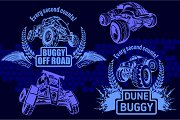 Dune buggy and monster truck -