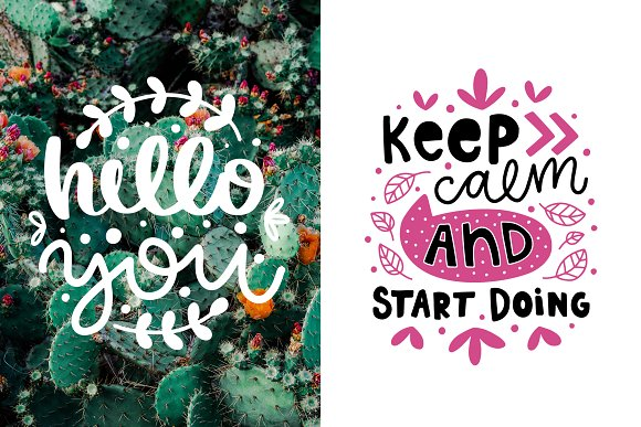 50 Lettering Posters Collection! in Illustrations - product preview 1